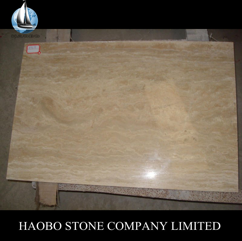 Good Price Big Marble Slabs Classic Light Travertin