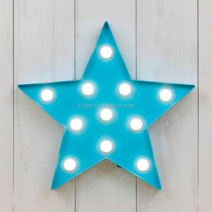 Hot Plastic Vegas LED Star Light/marquee alphabet letter star shaped lights/indoor decorative led lights battery operated