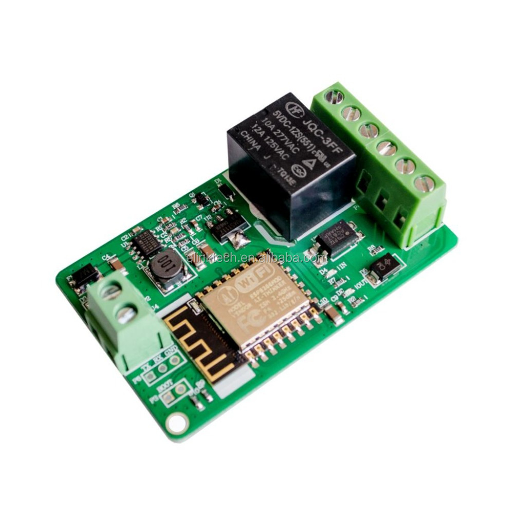 Green ESP8266 10A 220V Network Relay WIFI Module Input DC 7V~30V Modules