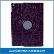 Luxury Purple Top Quality 360 Degree Rotatable Smart Case for iPad Air 2 PU Leather Tablet Case for iPad 6