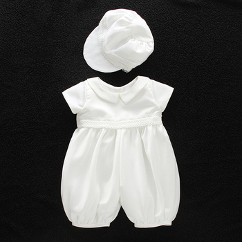 78bf92a45 Baby Infant Baptism Outfits For Baby Boys Newborn Gown White Lace Christening  Clothes