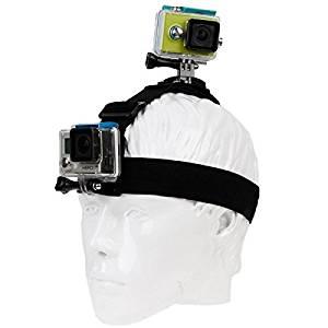 Adjustable Head Strap with 360 Degrees Rotation Mount & Fixed Mount for GoPro HERO4 /3+ /3 /2 /1, SJ4000 / SJ5000 / SJ6000 / SJ7000, Xiaomi Yi Sport Camera