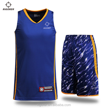 College-Sublimierte Basketball-Uniformen Einzigartige Basketball-Jersey-Designs mit Camouflage-Shorts
