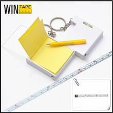 1meter 3ft functional mini steel multi measuring tape with note and level