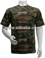 100% Cotton Camo T Shirt Short Sleeve