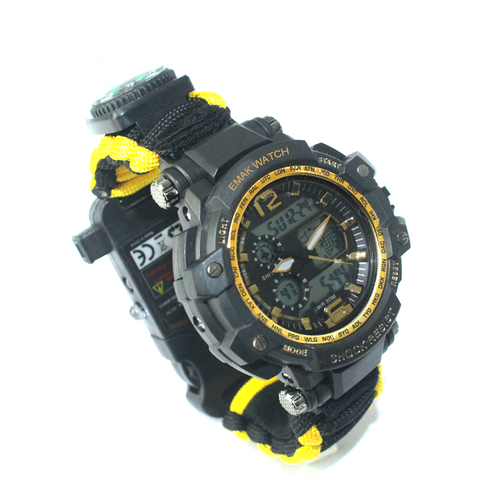 Alibaba.com / EMAK survival outdoor multifunctional watch Suitable for all people