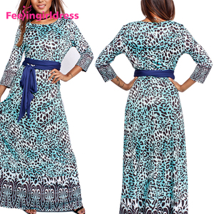 Wholesale Long Sleeve Floral India Maxi Dress For Fat Women