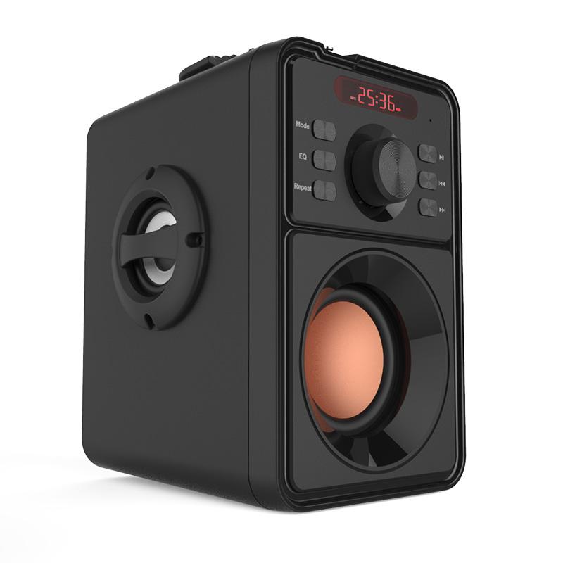 MP09 Hifi Draadloze Bt Ingebouwde Batterij Indoor En Outdoor Gebruik Aux Usb Tf MP3 Fm Radio Subwoofer Super bass Mini Draagbare Speaker