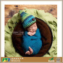 Baby Boy Gnome Elf Multicolor 100% Acrylic Knit Infant Hat with Textured Button