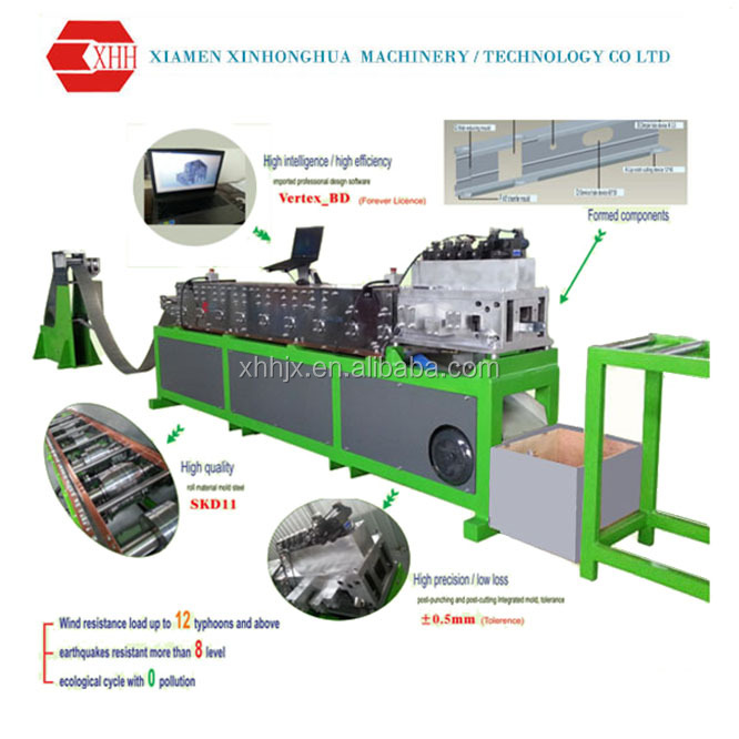 Stable performance light gauge steel framing machine with Vertex-BD software