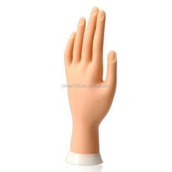 Yimart Nail Art Praktijk Hand Model Flexibel Beweegbare Zachte Hand