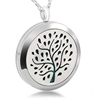 Stainless Steel Hollow 316L Necklace Jewelry Elegant Tree Fashion Pattern Health Perfume Aroma Pendant