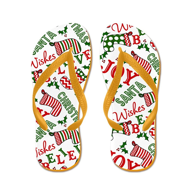 40f35644f920 Get Quotations · CafePress Merry Christmas Joy Stockings - Flip Flops
