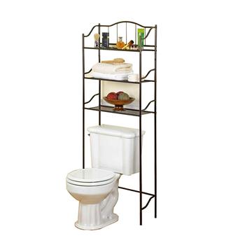 Wire Bathroom Shelves | Bathroom Shelf Space Saver Over The Toilet Wire Metal Shelves