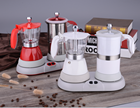 New design Colorful espresso coffee maker & milk froth set coffee machine