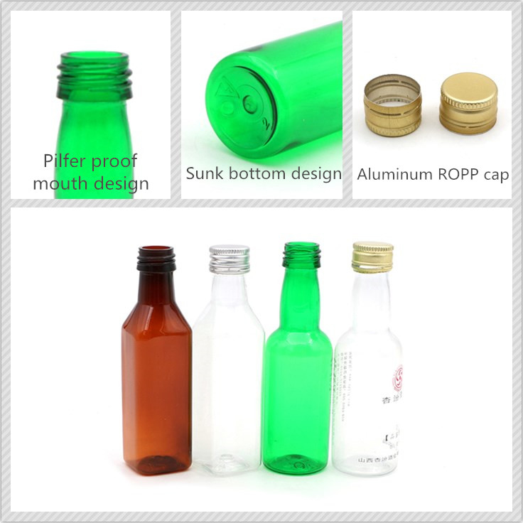 50ml pet blowing bottle for wine and juice
