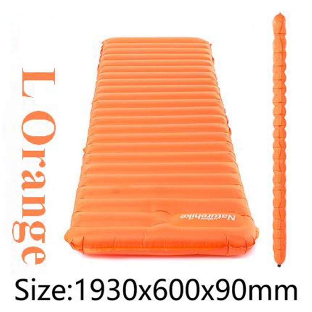SHDIOU Manually Press Inflatable TPU Cushion Ultra Light Camping Mat Tent Air Mattress Outdoor Patent Sleeping Pads 2Color 570G