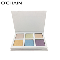 High Quality Sun Chemical Pigment Cosmetics 6 Colors Private Label Eyeshadow Palette for Beauty Make up