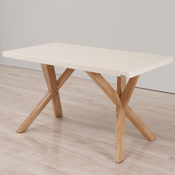 Moderne mdf top keuken tafel hout x been eettafel houten tafels ...
