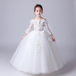 OEM factory kids girl bridal dress for 2-12 years old