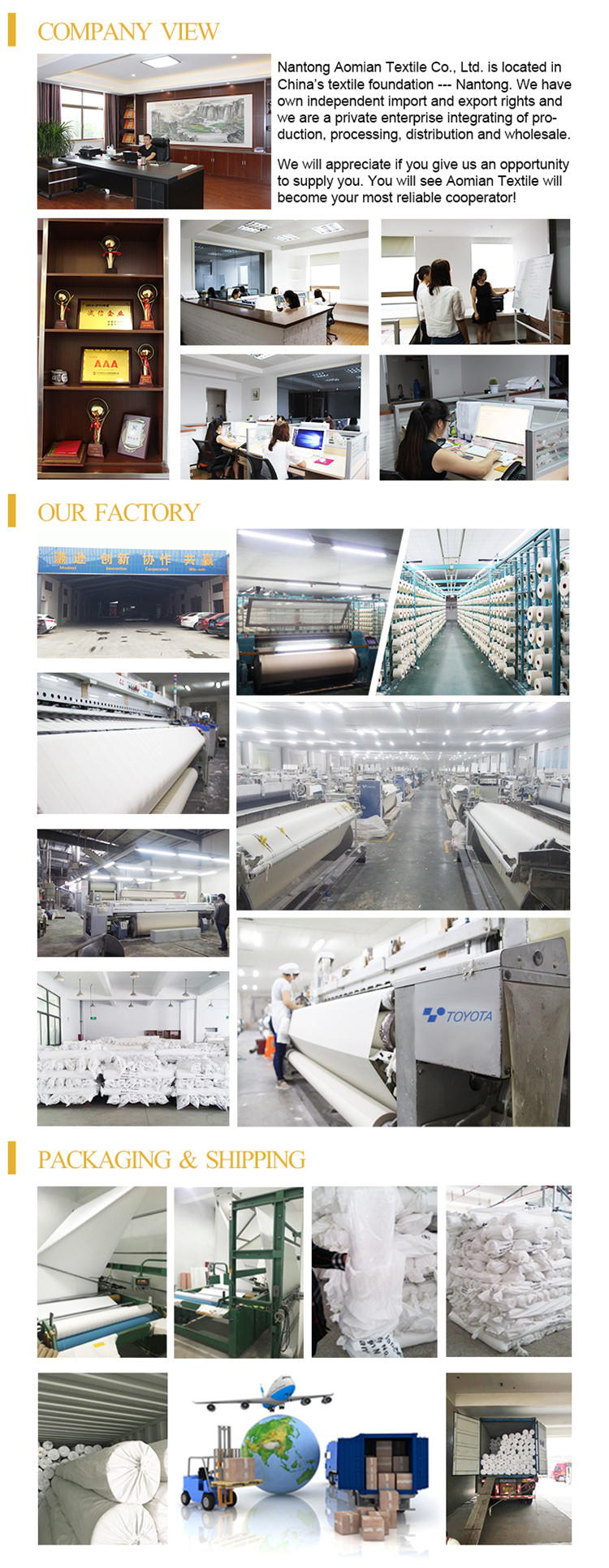 Hospital textiles bed fabric 100% cotton export to Russia market
