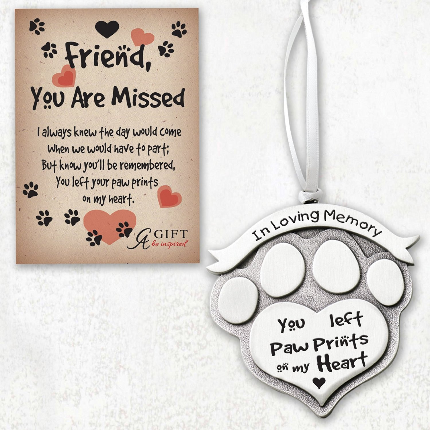 Buy Memorial Dog Frame - Pewter Heart Shaped Frame with Crystals ...