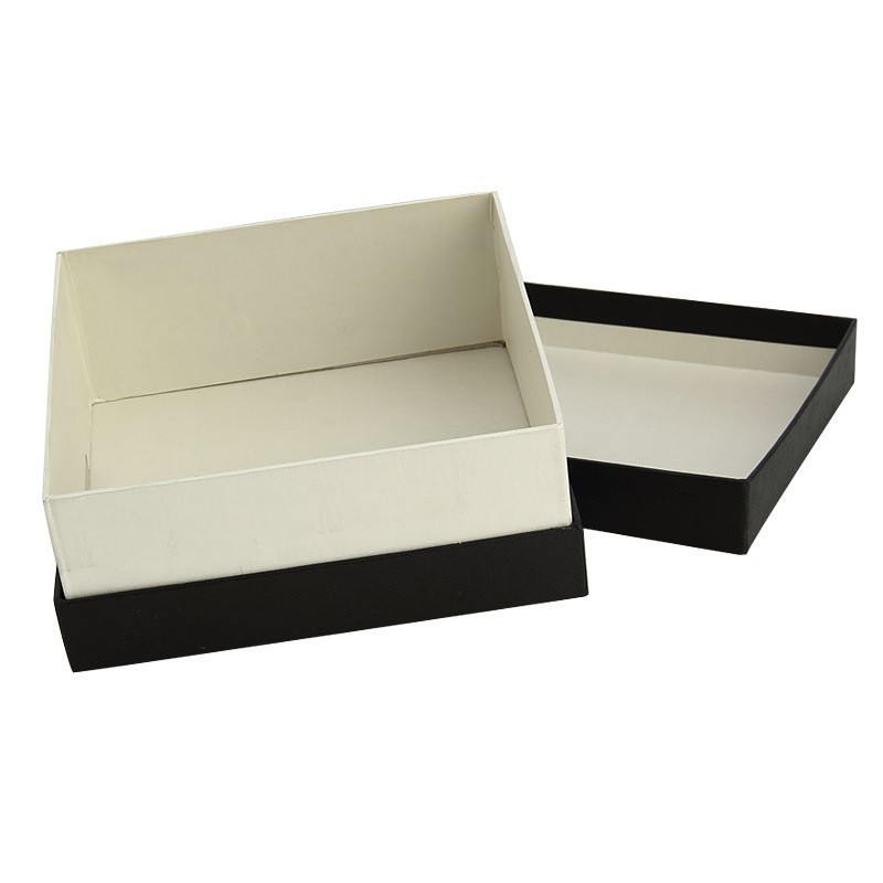 black rigid gift box with lid