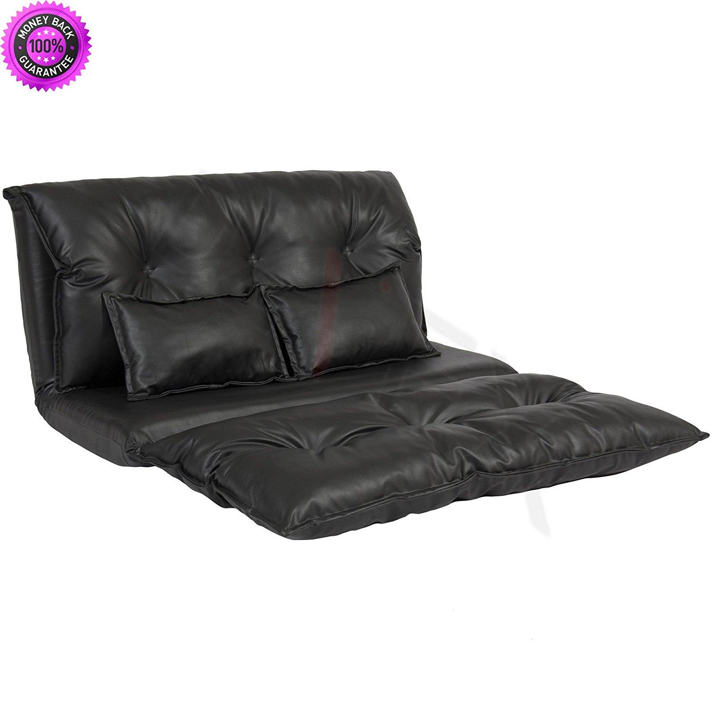 Buy Merax 194 174 Pu Leather Adjustable Floor Sofa Bed Lounge