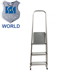 New 3 Layer Extension Ladder 10 foot with side safety rails hinges steel folding 4 step narrow