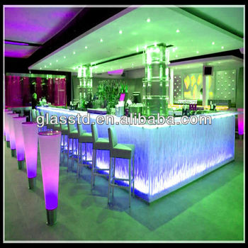 Modern Restaurant Bar Counter With Led
