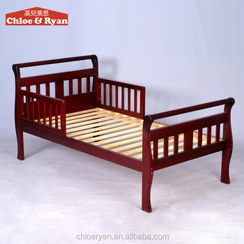 New Design Baby Pine Wood Cot Bed Cheap Unique Toddler Beds