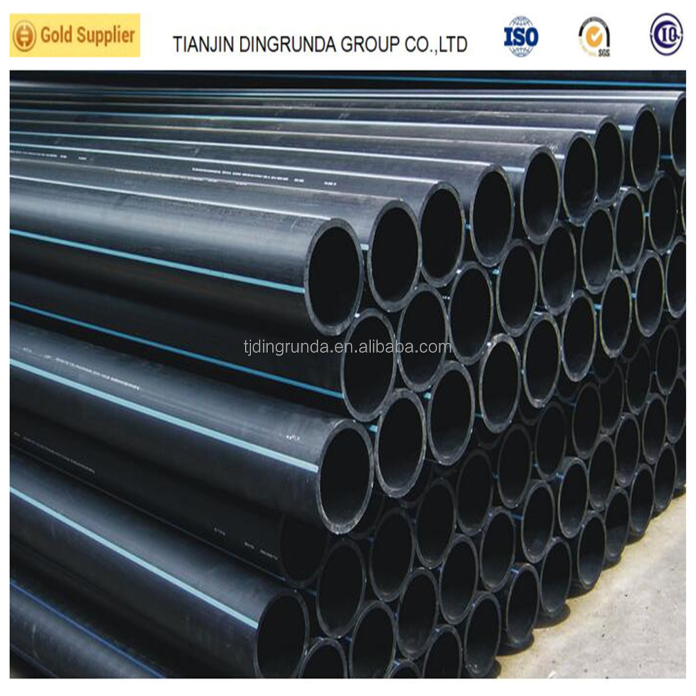 PE100 material 10 inch HDPE pipe black plastic underground water supply pipe