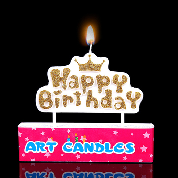2018 Happy Birthday Letter Shaped Candles