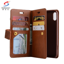 Blown tpu leather anti-shock case for iPhone x 2 in 1 premium leather case for iPhone x