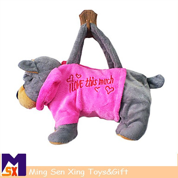 baby toys manufacturers china wholesale plush stuffed toy dog bag