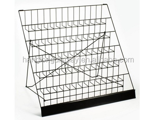 Black Metal Wire CD Pockets Displays Counter Spinner Hold