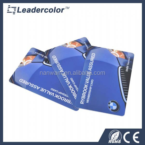 Hot stamping and signature panel pvc loyalty / bonus cards