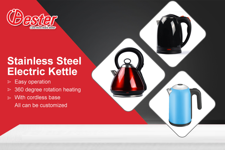Home appliance stainless steel water electric kettle 1.7L 1.8L 2.5L good price