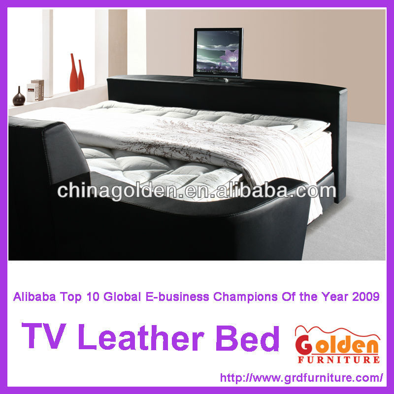 A2823 Moderne Leder Tv Bett Für Foshan Möbelfabrik - Buy Leder Bett ...