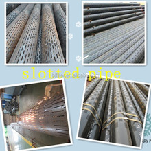Galvanized Straight Slot Liner/Stainless Steel Slotted Oil Casing Pipe/Api Sieve Tube