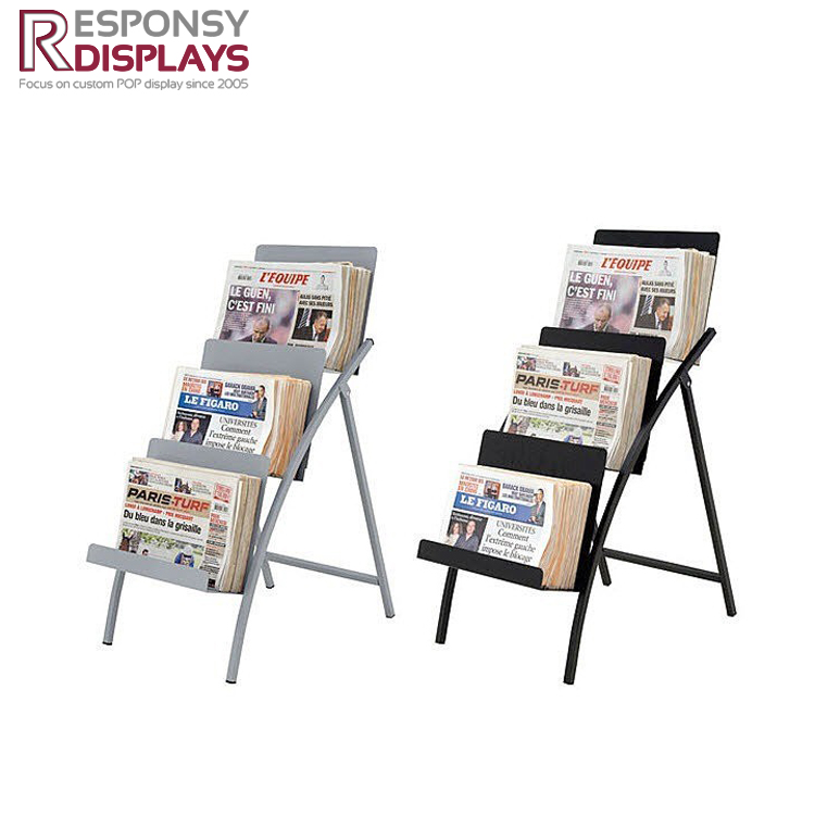 3 layers newspaper rack display stands for comic book