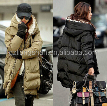 Oem Wholesale Women Winter Duck Down Jacket Thick Warm Military ...