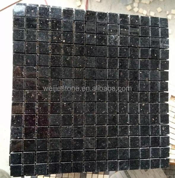 Black Galaxy Granite Mosaic Tile