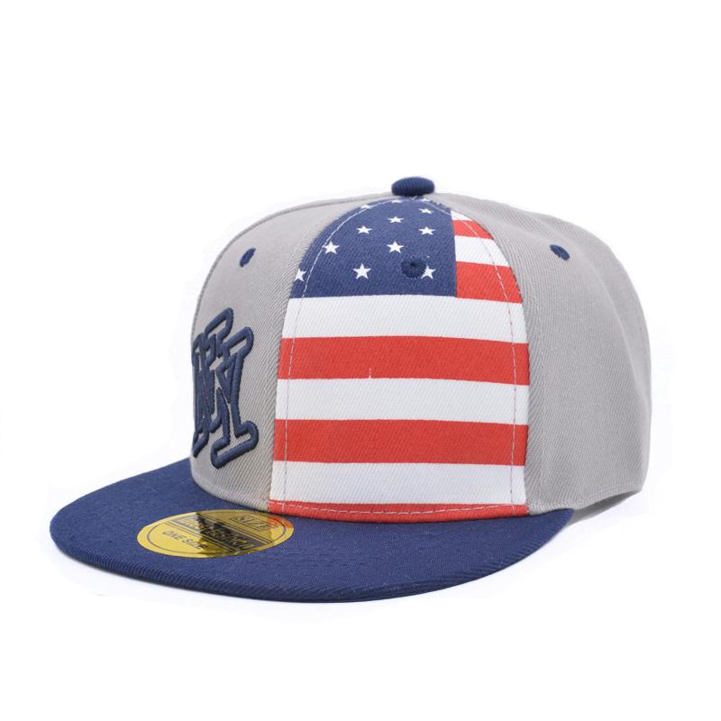 Get Quotations · 2015 Ny Baseball Cap Brand ny Cotton Adjustable Flat  Baseball Cap Kids Boy America Flag Snapback bd2fa4a6978