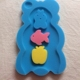 Customized cartoon shape baby bath sponge pad for bath sponge toy