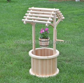 Antique Backyard Garden Wishing Well Bucket Planters Buy Wishing