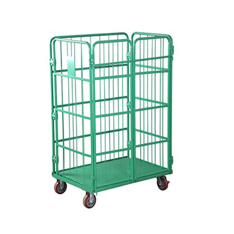 Steel Foldable Warehouse Roll Cage Trolley - Buy Roll Cage Trolley,Foldable  Roll Trolley,Steel Foldable Warehouse Roll Cage Trolley Product on