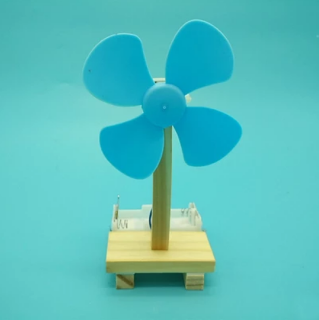 Diy simple electric small fan model for physics experiment