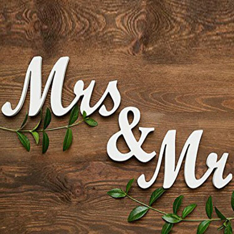 MR & MRS Wooden Props Wedding Supplies English Letter Ornaments
