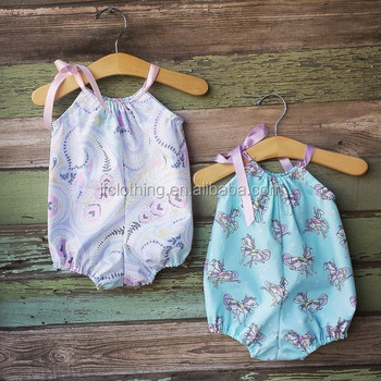 8ea92956038 Baby girl floral romper bubble romper cotton printed playsuit handmade